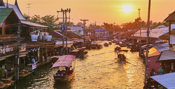One Day Escape, Floating Markets Tour & Maeklong Train Market, Thailand